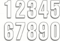 Autocolant numere de start